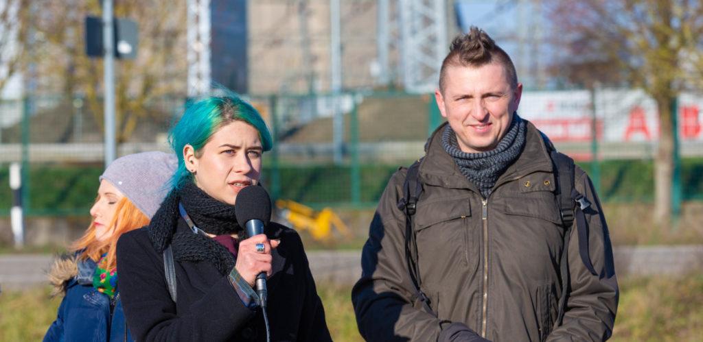 Protest FOTA4Climate pod elektrownią jądrową w Philippsburgu